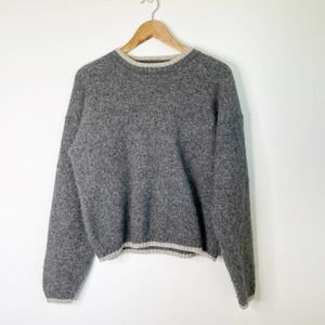 Vintage WOOLRICH Wool Sweater Oversized Cropped